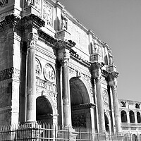 Buy canvas prints of Arch of Constantine, (AD 312), one of three surviv by M. J. Photography