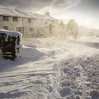 Buy canvas prints of The Kirkstone Pass Inn, plastered in fresh snow  by Ashley Cooper