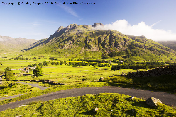 Langdale Pikes Canvas Print by Ashley Cooper