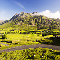 Buy canvas prints of Langdale Pikes by Ashley Cooper