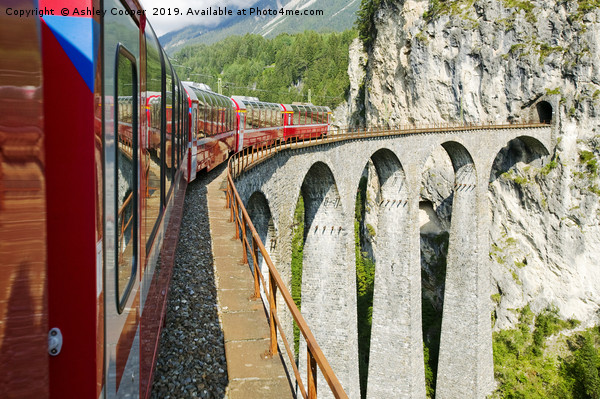 Viaduct. Canvas print by Ashley Cooper