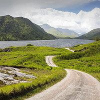 Buy canvas prints of The long and winding road. by Ashley Cooper