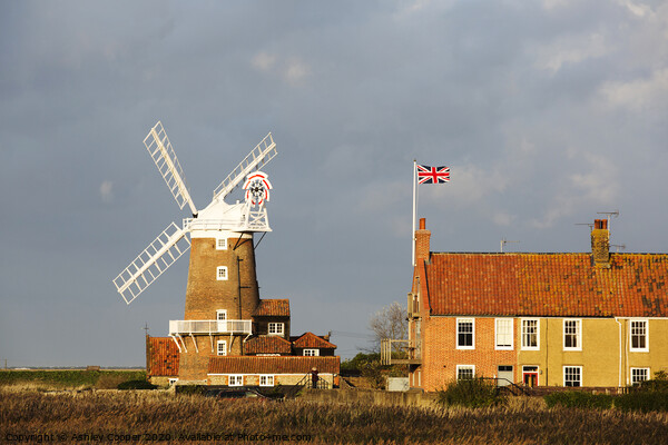 Cley mill. Framed Mounted Print by Ashley Cooper