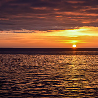 Buy canvas prints of Sunset over the Baltic sea by Jelena Maksimova