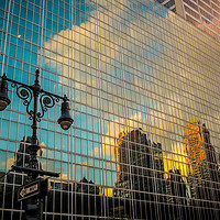Buy canvas prints of New York reflection by Martin Johnson