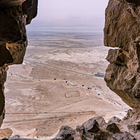 Buy canvas prints of View from fortress of Masada. by Mario Koufios