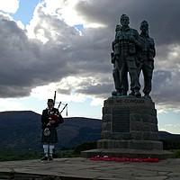 Buy canvas prints of Piper at Commando memorial by Martin Smith