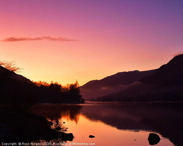 Loch Voil Sunset Canvas print by Ross Harper