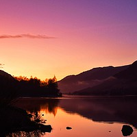 Buy canvas prints of Loch Voil Sunset by Ross Harper