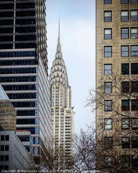 Chrysler Building, Manhattan, US Framed Mounted Print by Maria Luisa Latorre