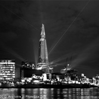 Buy canvas prints of The Shard at Night by Karen Martin