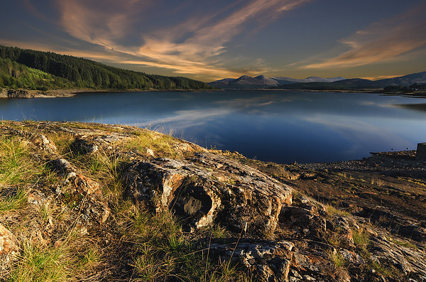 Loch Doon at sunset Canvas print by John Boyle