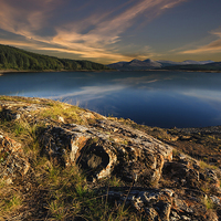 Buy canvas prints of  Loch Doon at sunset by John Boyle