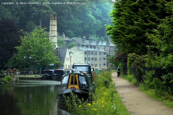 Rochdale Canal, Hebden Bridge Canvas Print by Alison Chambers