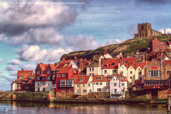 Whitby Landscape Canvas Print by Alison Chambers