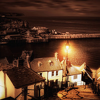 Buy canvas prints of Whitby By Gaslight by Alison Chambers