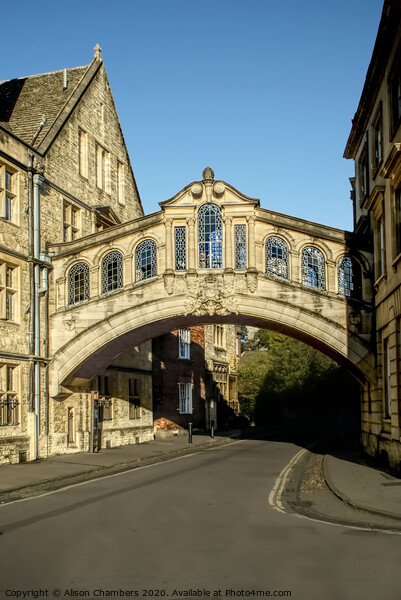 Oxford Bridge of Sighs Canvas Print by Alison Chambers