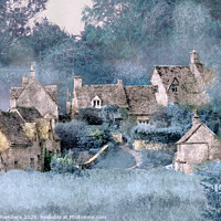 Buy canvas prints of Frosty Morning Cottages by Alison Chambers