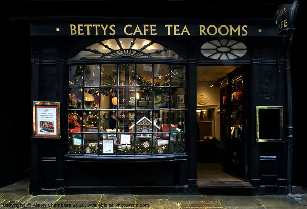 Bettys of York Canvas Print by Alison Chambers