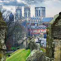 Buy canvas prints of York Minster and City Wall by Alison Chambers