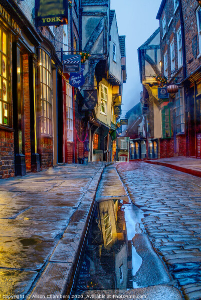 Shambles at Dusk Canvas Print by Alison Chambers