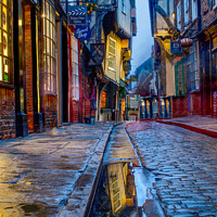 Buy canvas prints of Shambles at Dusk by Alison Chambers