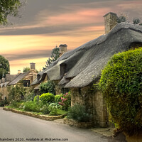 Buy canvas prints of Cottage on the Lane by Alison Chambers