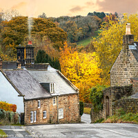 Buy canvas prints of Autumn Day in Ashover by Alison Chambers