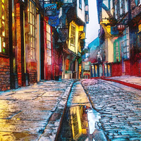 Buy canvas prints of Shambles Watercolour  by Alison Chambers