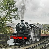 Buy canvas prints of Full Steam Ahead by David Mather
