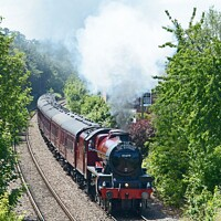 Buy canvas prints of Jubilee 45699 steams out of York by David Mather