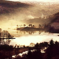 Buy canvas prints of Rydal Water sunrise by Simon Johnson