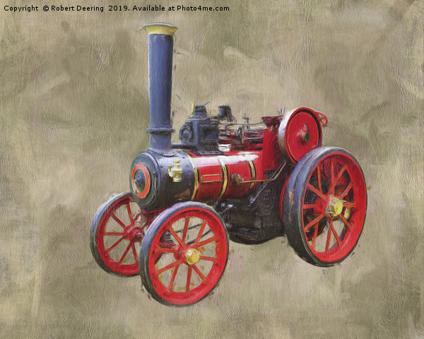 Red Steam Traction Engine Framed Print by Robert Deering