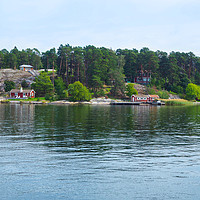 Buy canvas prints of Island in the Stockholm Archipelago by Angela Cottingham