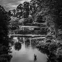 Buy canvas prints of River Aln in Black & White by Aimie Burley