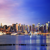 Buy canvas prints of Manhattan Midtown from Day to Night	 by paul hardy