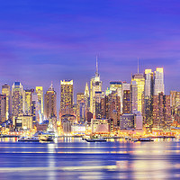 Buy canvas prints of Panoramic view of Manhattan Midtown  by paul hardy