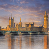 Buy canvas prints of Big ben and the Houses of Parliament by conceptual images