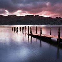 Buy canvas prints of A view across Derwent water lake at dawn by conceptual images