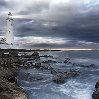 Buy canvas prints of A view of a lighthouse a storm by conceptual images