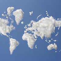 Buy canvas prints of Clouds that have formed the shape of the world by conceptual images