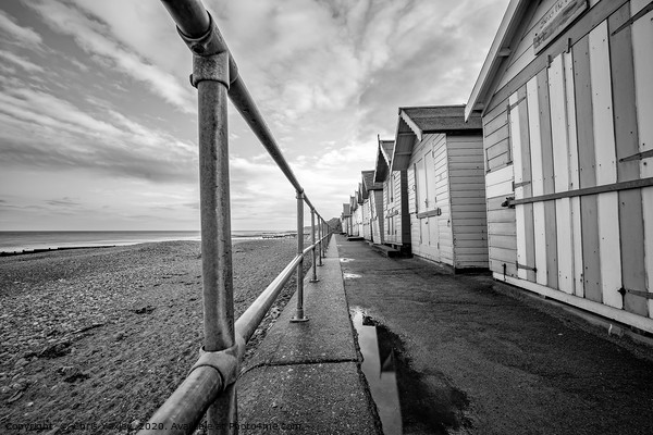 Row of beach huts on Cromer promenade Canvas Print by Chris Yaxley