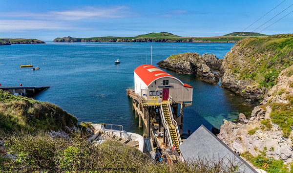 New RNLI lifeboat station in St Justinians, Wales Canvas Print by Chris Yaxley