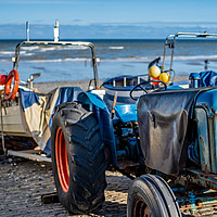 Buy canvas prints of Crab fishing in Cromer on the North Norfolk coast by Chris Yaxley