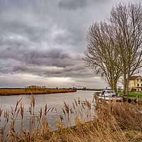 Buy canvas prints of On the bank of the River Yare by Chris Yaxley