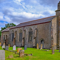 Buy canvas prints of St Peter's Church in Smallburgh, Norfolk by Chris Yaxley