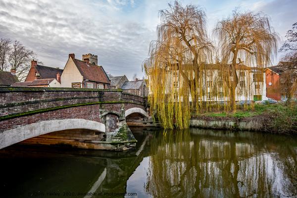 Fye Bridge over the River Wensum, Norwich Canvas Print by Chris Yaxley