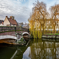 Buy canvas prints of Fye Bridge over the River Wensum, Norwich by Chris Yaxley