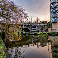 Buy canvas prints of Carrow Road Bridge over the River Wensum by Chris Yaxley