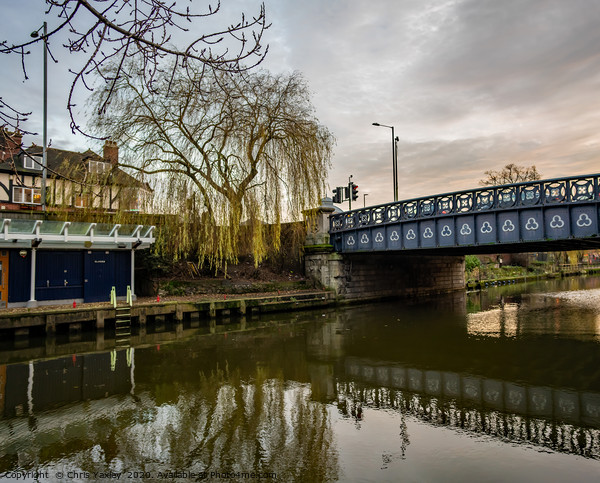 Foundry Bridge over the River Wensum, Norwich Canvas Print by Chris Yaxley